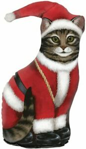 Fiddler's Elbow Santa Claus Cat Door Stop, Door Stopper, Interior