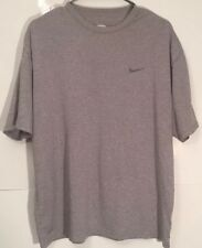 Nike FitDry Gray Crew Neck T-Shirt Mens Large
