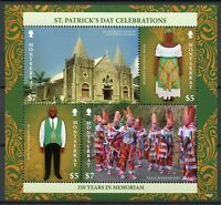 Montserrat Cultures Stamps 2018 MNH St Patrick's Day Churches Traditions 4v M/S