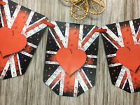 Union Jack Flags Bunting UK Flag Party Hanging England British VE Day  FB76k