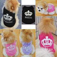 Pet Small  Dog  Puppy Coat Cotton Vest T Shirt Clothes Tops Costume Apparel