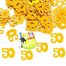 Gold 50th Birthday Golden Wedding Anniversary - Table Confetti Party Decorations
