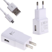 Adaptive Fast Wall Charger & Micro USB Cable For Samsung Note 4 5 S5 S6 S7 Edge