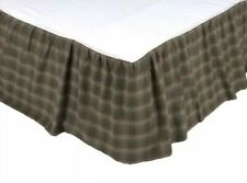 Vhc Brands Seneca Queen Size Bed Skirt 60�x80� With 16� Drop Lenght Brown/Green