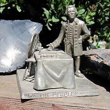 "Rare 1975 Pewter Thomas Jefferson ""We the People"" Statue LE EJ Aleo & Co #326"