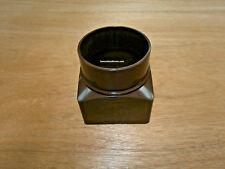 68mm Brett Martin Brown Downpipe Square To Round Adapter / Adaptor  BR517