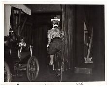 LILLIAN GISH Bicycle Antique Auto 1951 HOFFMAN Original 8x10 Movie or TV Still