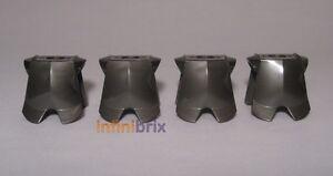 Lego Armour 2587 / 33468 Titanium Metallic Breast Plate for Uruk-Hai Orcs NEW x4