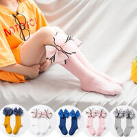 GX- Baby Kids Girls Socks Lovely Bowknot Cotton Knee High Socks Stockings  Eyefu