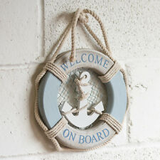 Nautical Beach Boat Wall Hanging Plaque Decoration Life Ring Anchor Bathroom Art