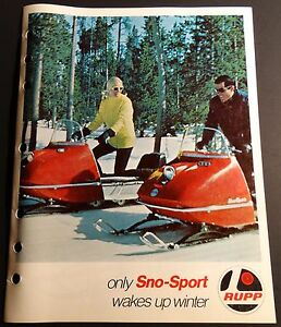 """1969 VINTAGE RUPP SNOWMOBILE SALES BROCHURE 8 PAGES NICE 8 1/2"""" X 11""""  (650)"""