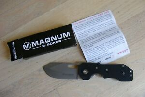 "Boker Magnum Bulldog Liner Lock Black G-10 (3.25"" ) 01YA073 Folding Knife"
