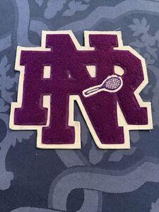 "Vtg New Rochelle  Huguenots Varsity Letter "" Tennis "" Westchester County , Ny"