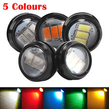 12V CAR TRUCK LORRY TRAILER ROUND LED BULLET BUTTON REAR SIDE MARKER LIGHT LAMPS