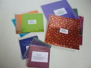 40-50 Mixed Coloured Chocolate Square Foil Wrappers.3 sizes 80mm /100mm /150mm.
