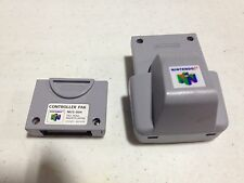 NINTENDO 64 RUMBLE & CONTROLLER PACK PAK FOR N64 SYSTEM AUTHENTIC NICE NES HQ