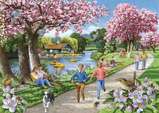 La maison des puzzles 500 Big Piece Jigsaw Puzzle Apple Blossom Time Big PIECES