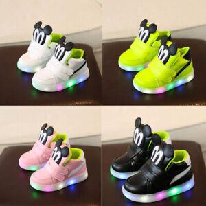 Kids LED Luminous Shoe Sneakers Flashing Children Girls Boys Light Up Trainers