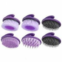 Tough-1 Purple 6-Pack Palm Grip Brush Assortment Horse Tack