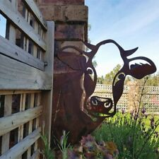 Garden Farm Peeping cow Metal Art Outdoor Outdoor Garden Pendant Decoration