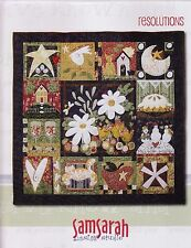 Clearance - Resolutions - quilt pattern BOOK by Samsarah design Studio