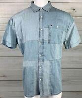 New Tommy Hilfiger Men's Patchwork Button Down Shirt Size XL NWT MSRP $69 A6312