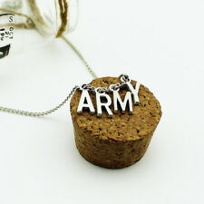 New KPOP BTS Jimin Necklace Bangtan Boys ARMY A.R.M.Y Pendant Jewelry JUNG KOOK