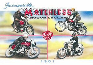 1961 Matchless motorcycles poster