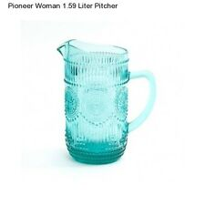 1.59 Liter Pioneer Woman Glass Pitcher New Home Decor Glassware Serving Pitchers