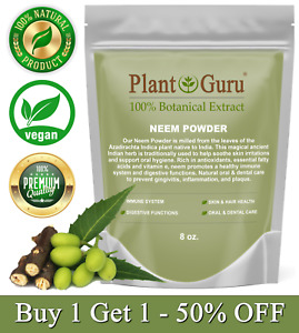 Neem Powder 8 oz. Dried Leaf 100% Pure & Natural Raw Leaves (Azadirachta indica)