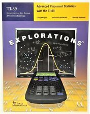 TI-89 Advanced Placement AP Statistics Explorations teachers book guide help