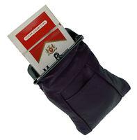 BLACK CIGARETTE Pouch soft CASE pouch Genuine Leather Holder Wallet