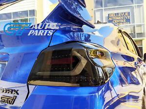 V5 Smoke Black Full LED Tail lights for 2015-2021 Subaru WRX STI VA taillights