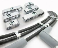 Chrome Ignition Lead Brackets Separators Set 6 Spark Plug Wires suit V8 or 6
