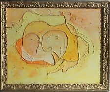 Original Abstract textured Painting on Canvas , Signed Serg Graff, COA, framed