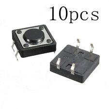 10pcs 12*12*4.3MM Quality Mini PCB Momentary Tactile Push Button Switch SPST SY