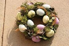 Kranz Osterkranz Ostern Deko Osterdeko Kranz Federn Reisig Eier Tischdeko