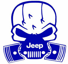 JEEP SKULL WITH PISTONS,Jeep life,4x4,Jeeper,Jeep Life,Off Road,Vinyl Decal