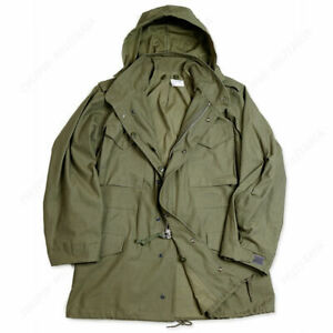 WW2 US MILITARY ARMY M65 M1965 COAT JACKET Cotten Army Green
