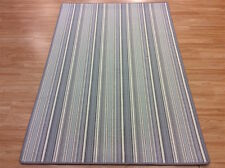 Striped Blue Wool BISCAYNE EGGSHELL BS100 Crucial Trading Rug 120x180cm -60%OFF