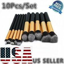 10Pcs Pro Makeup Brushes Powder Blusher Foundation Eyeshadow Cosmetics Tool US