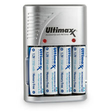 4X Rechargeable 3150 mAh Ultra High Capacity AA NiMH Batteries With Charger