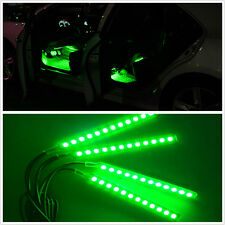 4 Pcs 12 LED Green Car Foot Well Interior Trim Floor Decorative Atmosphere Light