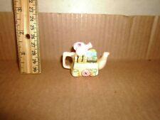 Miniature Figure Red Rose Teapot English Life Garden Cart Lot#9