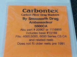 1 Set Carbontex Drag Washers Abu Garcia #'s 1116906, 20907 + 13169 4,5,6000 C3..