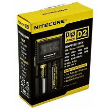 Nitecore D2 DigiCharger 2-Bay Battery Charger 18650 14500 18350 16340 10400 AA