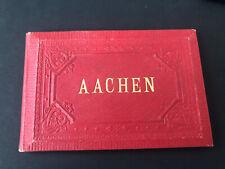 Aachen Litho Heft AK 1900 Lithographie Leporello