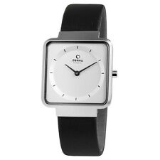 OBAKU Denmark Stahl Leder Weiss Damen Armbanduhr Uhr V139LCIRB  UVP 124,-€