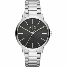 Armani Exchange Cayde Black Dial Stainless Steel Bracelet 42mm Watch AX2700 NEW