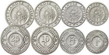 NETHERLANDS ANTILLES 4 COINS CURRENCY SET 1 - 5 - 10 - 25 CENTS 2005 - 2010 UNC
